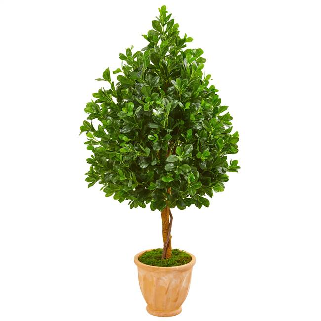"58"" Evergreen Artificial Tree in Terra Cotta Planter"