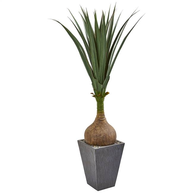5' Yucca Artificial Plant in Slate Planter