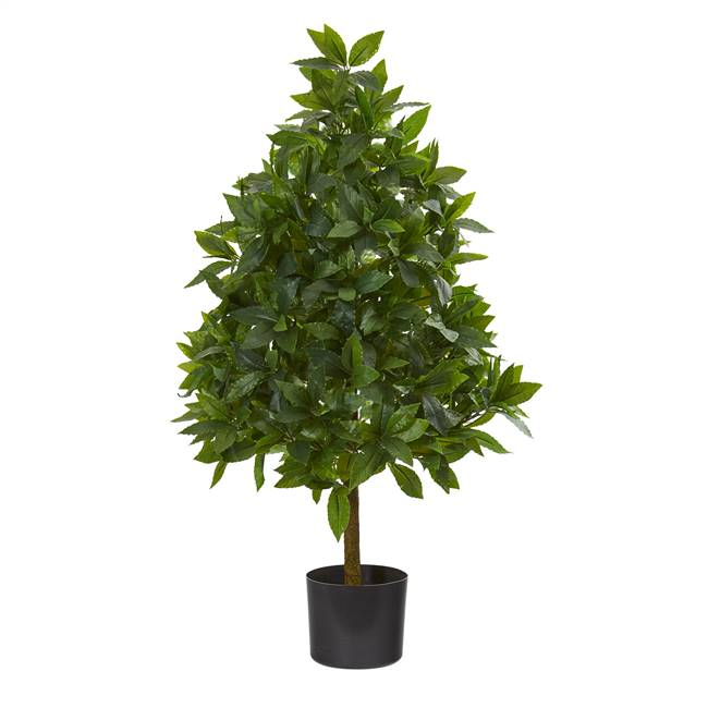 3' Sweet Bay Cone Topiary Artificial Tree