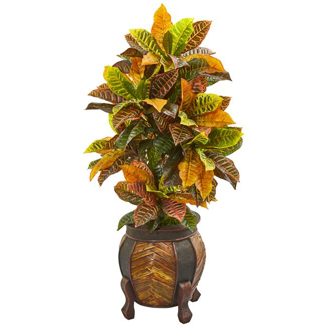 "44"" Croton Artificial Plant in Decorative Planter(Real Touch)"