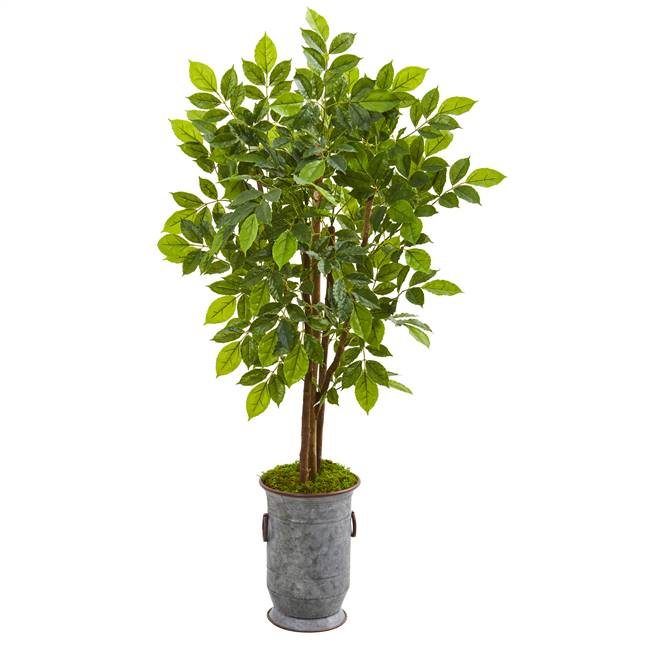 "55"" River Birch Artificial Tree in Decorative Planter"