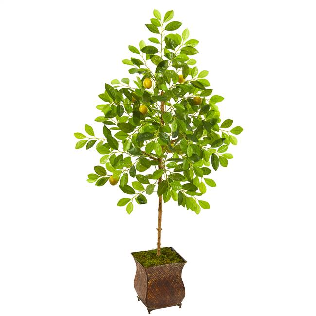 "54"" Lemon Artificial Tree in Decorative Planter"