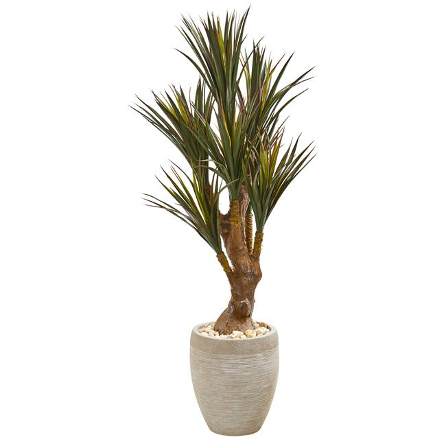 "50"" Yucca Artificial Tree in Planter UV Resistant (Indoor/Outdoor)"