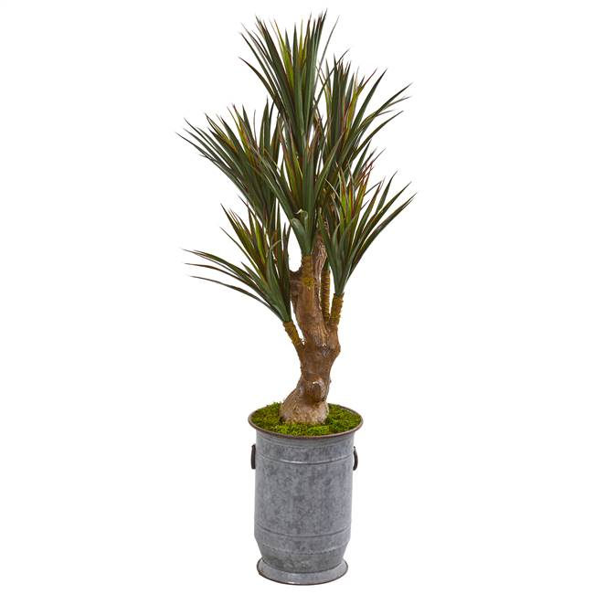 "52"" Yucca Artificial Tree in Planter UV Resistant (Indoor/Outdoor)"