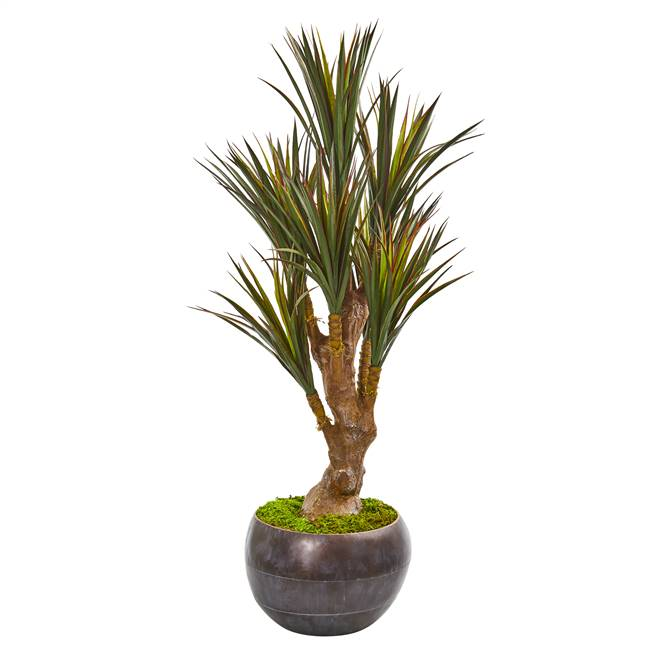 "47"" Yucca Artificial Tree in Decorative Planter UV Resistant (Indoor/Outdoor)"