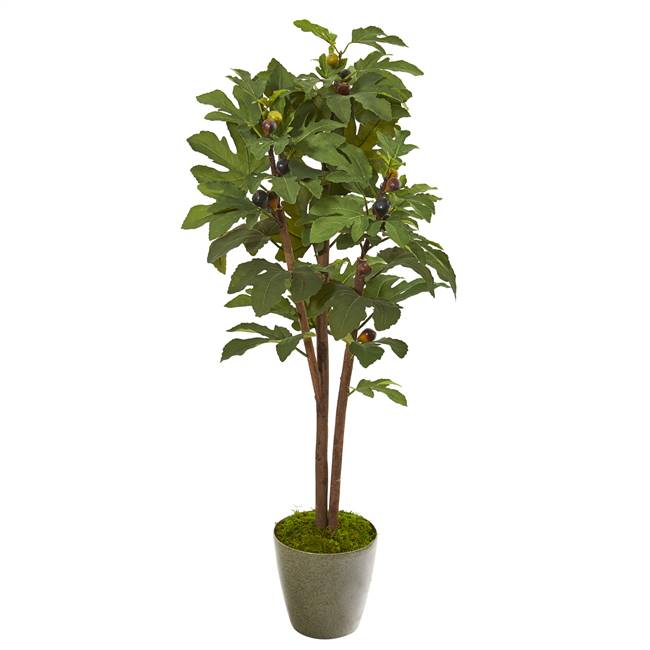 "47"" Fig Artificial Tree in Green Planter"