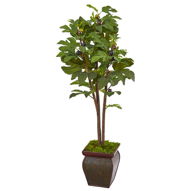 "49"" Fig Artificial Tree in Decorative Planter"