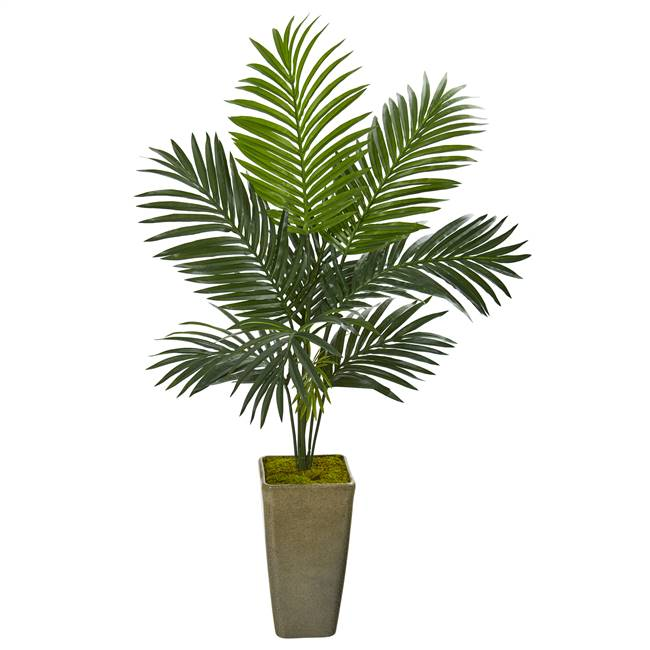 "50"" Kentia Artificial Palm Tree in Green Planter"