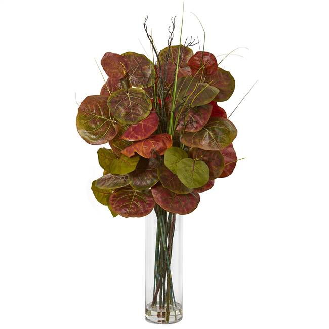 "44"" Sea Grape Artificial Arrangement in Vase"