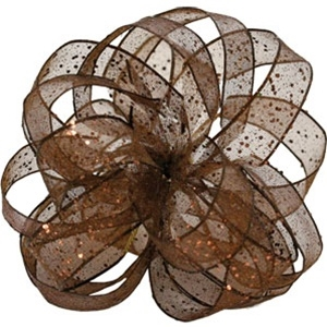 Ribbon #3 Flash Chocolate Wired W350318 25Y