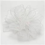 Ribbon #3 Flash White Iridescent Wired W350352 25Y*