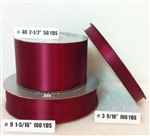 Ribbon #3 Satin Burgundy Berwick 100Yd Pk 1