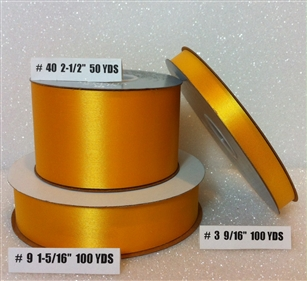 Ribbon #3 Satin Golden Yellow Berwick 100Yd Pk 1
