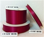 Ribbon #3 Satin Madame Red Berwick 100Yd Pk 1