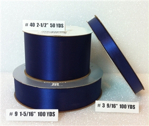 Ribbon #3 Satin Navy Blue Berwick 100Yd Pk 1
