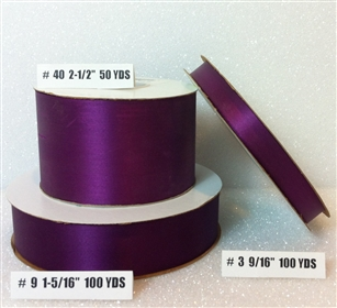 Ribbon #3 Satin Plum Berwick 100Yd Pk 1