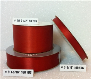 Ribbon #3 Satin Rust Berwick 100Yd Pk 1
