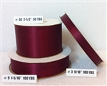 Ribbon #3 Satin Wine Berwick 100Yd Pk 1