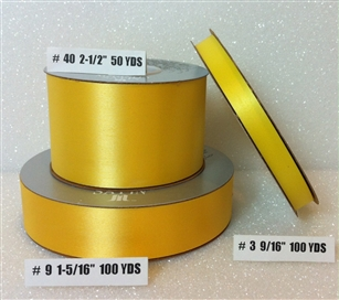 Ribbon #3 Satin Yellow Berwick 100 Yd