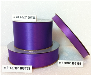 Ribbon #40 Satin Purple Berwick 50 Yd Pk 1