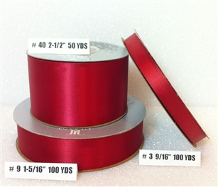 Ribbon #40 Satin Red Berwick 50 Yd Pk 1