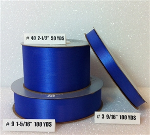 Ribbon #40 Satin Royal Blue  50 Yd Pk 1