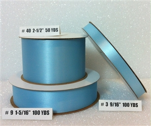 Ribbon #9 Satin Blue Berwick 100Yd Pk 1