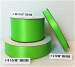 Ribbon #9 Satin Hot Lime Berwick 100Yd Pk 1