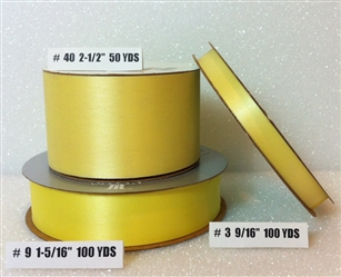 Ribbon #9 Satin Maize Berwick 100Yd Pk 1