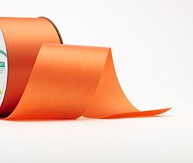 Ribbon #9 Satin Orange Berwick 100Yd Pk 1