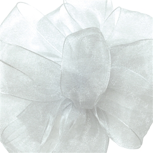 Ribbon #9 Sheer Simply Sheer White 100Y