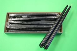 "12"" Taper Candle-Black (Pack of 12)"