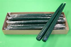 "12"" Taper Candle-Dark Green (Pack of 12)"