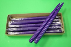 "12"" Taper Candle-Purple (Pack of 12)"