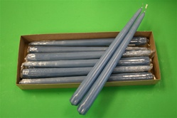 "12"" Taper Candle-Slate Blue (Pack of 12)"