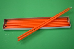 "16"" Taper Candle-Orange (Pack of 12)"
