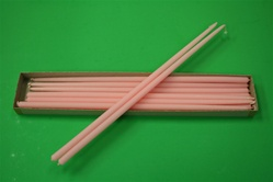 "16"" Taper Candle-Light Pink (Pack of 12)"