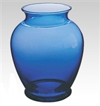 Glass Ginger Vase - Cobalt (Case of 12)