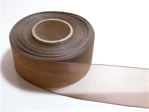 Ribbon #3 Sheer Brown Chiffon Brown 25Yd