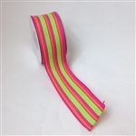 Ribbon #9 Perky Stripe Wired Edge 10Yd