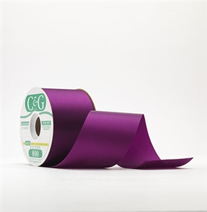 Ribbon #3 Satin Grape 100 Yd Pk 1