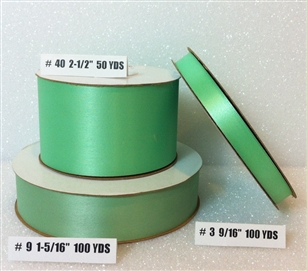 Ribbon #3 Satin Mint 100 Yd Pk 1
