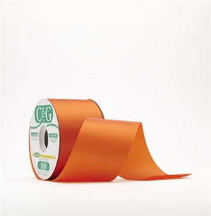 Ribbon #3 Satin Royal Orange 100Y Pk1