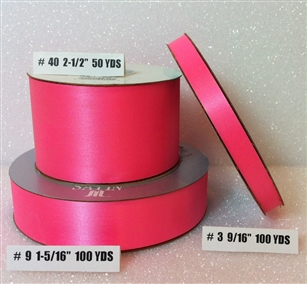 Ribbon #40 Satin Hot Pink 50Yd Pk 1