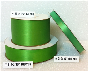 Ribbon #9 Satin Emerald 100 Yd Pk 1