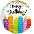 Happy Birthday Colorful Candles Foil Balloon
