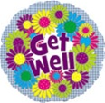 Get Well Daisies Foil Balloon