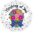 Thinking of You Graphic Bouquet Foil Balloon