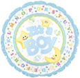 It's A Boy Moon & Stars Foil Balloon