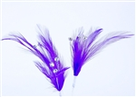 Flutterz Feather Pick with rhinestone - Purple (Pack of 3)